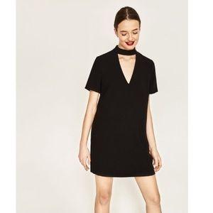 Zara women shift dress with Choker